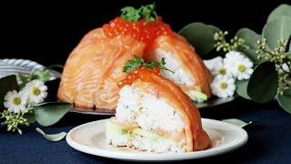 ノルウェーサーモンのとろけるドーム寿司
