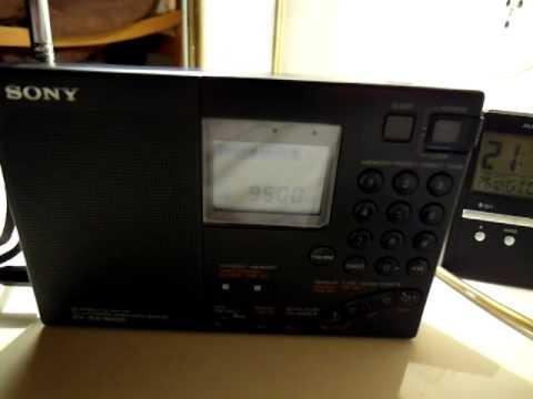 Radio Australia Pacific Service 9500 Kc/s on Sony ICF 7600G