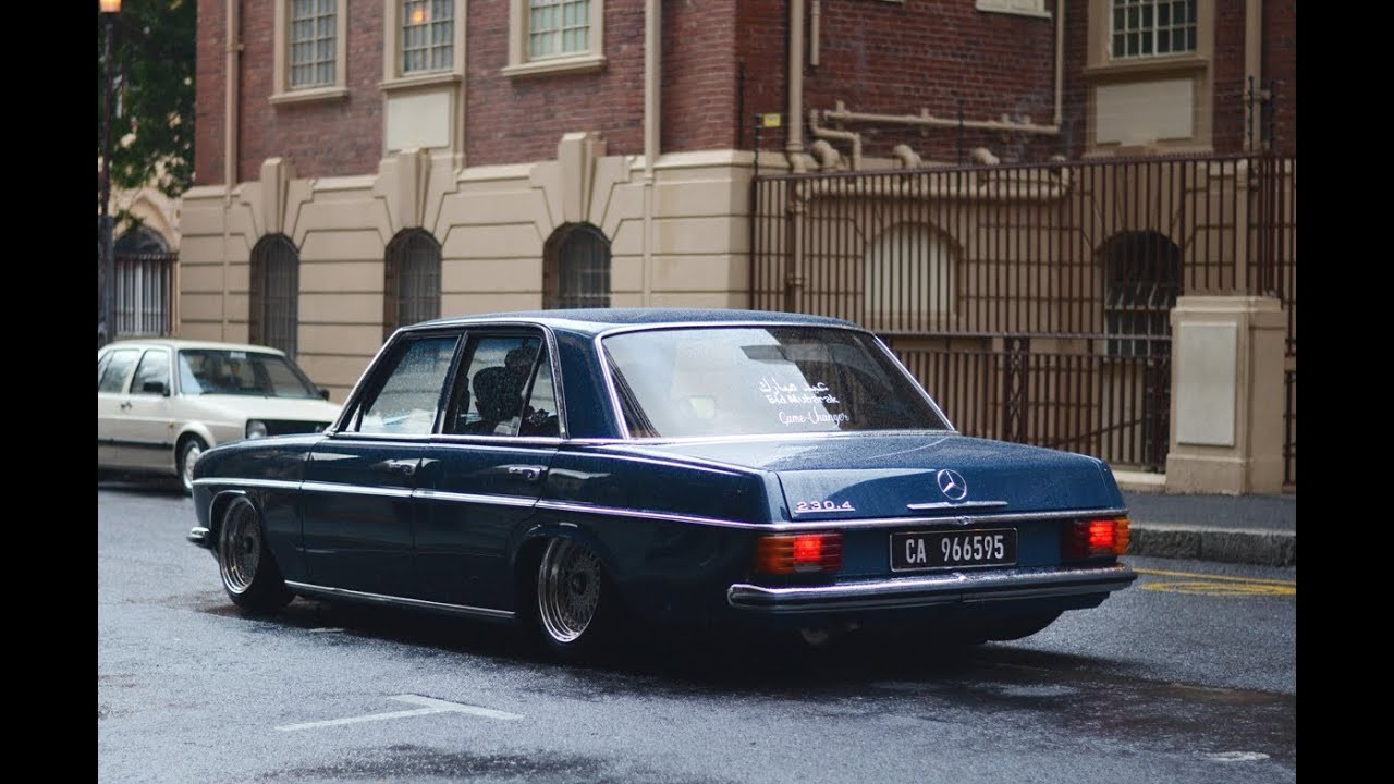 A Rainy Day With The Benz Bagged W115 Mercedes Benz