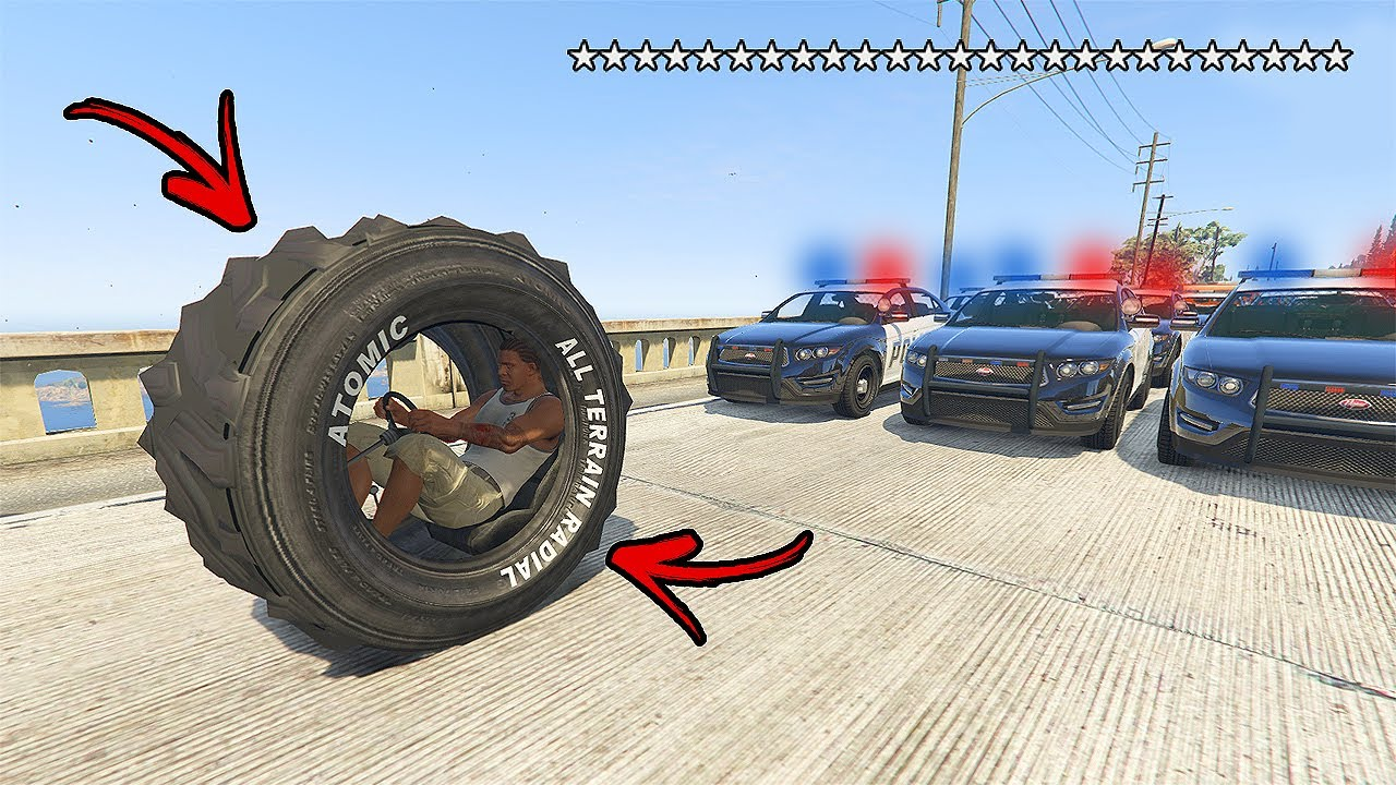GTA 5 - 25 Wanted Stars Cop Battle! Stole the CHEAT WHEEL and Getting Chased by Cops! (Epic Escape)