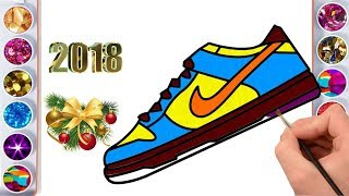 Shoe Coloring Page - How to Draw Shoe - Coloring Pages For Kids To Print