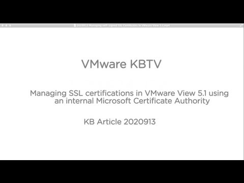 Managing self-signed SSL Certificates in VMware View 5.1