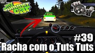 My Summer Car - Racha com o Tuts Tuts! Quase morri #39 (G27 mod)