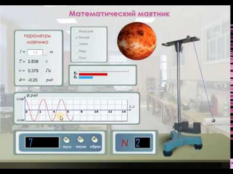 Виртуальные лабораторные работы по физике. Математический маятник