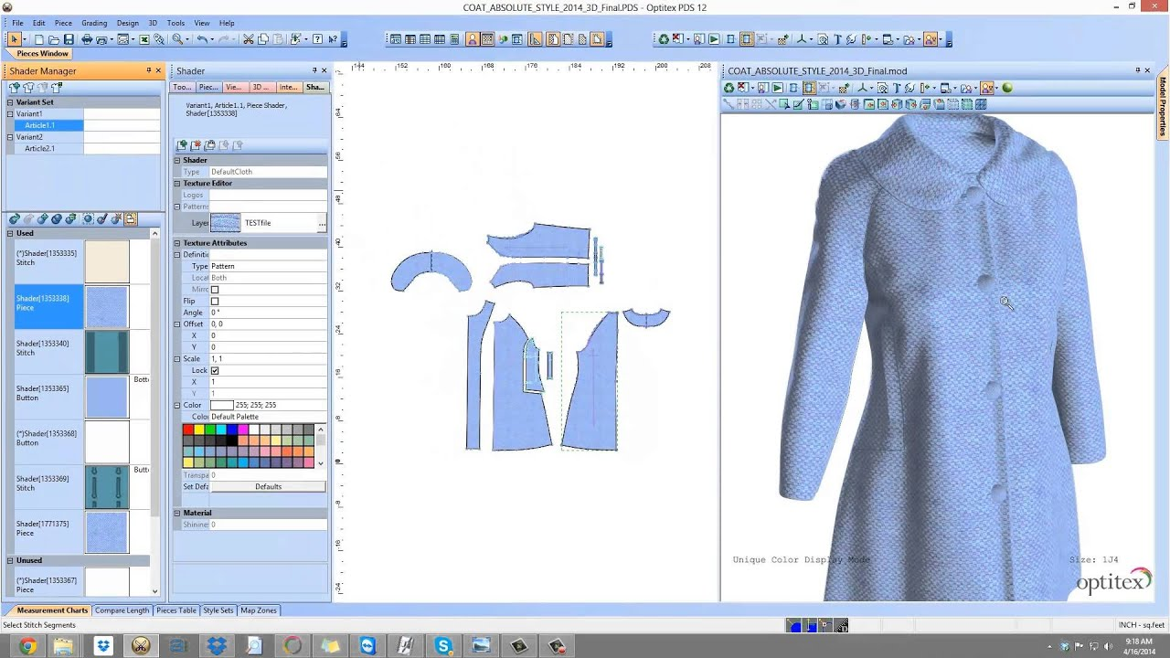 Optitex Virtual Product 3D Fashion Design Software for Textiles ...