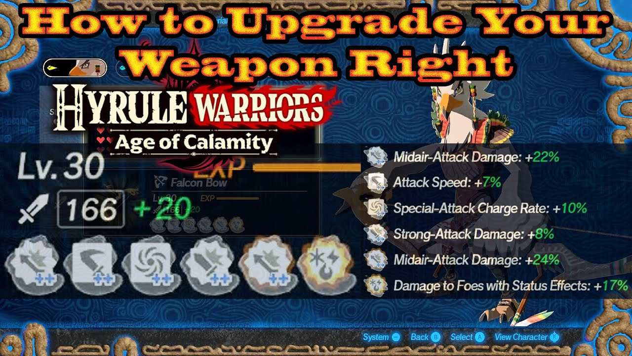 Hyrule Warriors Age Of Calamity How To Upgrade Your Weapon Right Full Smithing Process Youtube