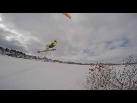 Snowkite 12 Mars 2018 La Baie Ilêt D'est 2 à 10 Noeuds +3