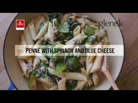 Penne With Spinach & Blue Cheese