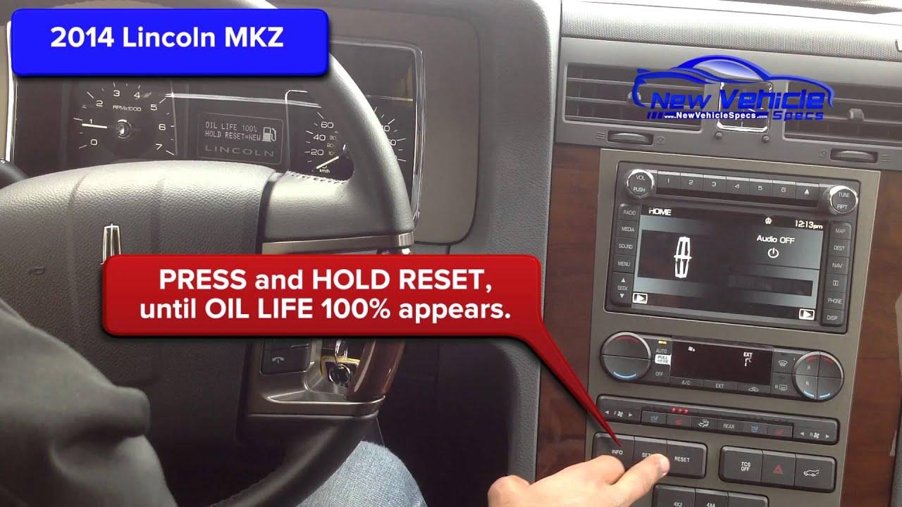 2014 Lincoln MKZ Oil Light Reset / Service Light Reset - YouTube