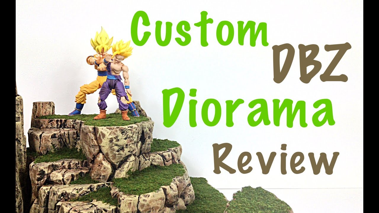 Custom DRAGON BALL Z Diorama Review Grassy Rock Terrain Dio Review By  Lawless Studios