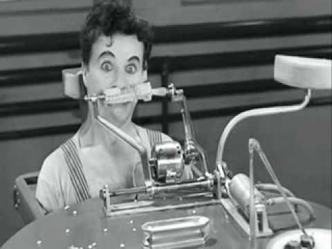 modern Times - Charlie Chaplin Eating Machine.wmv