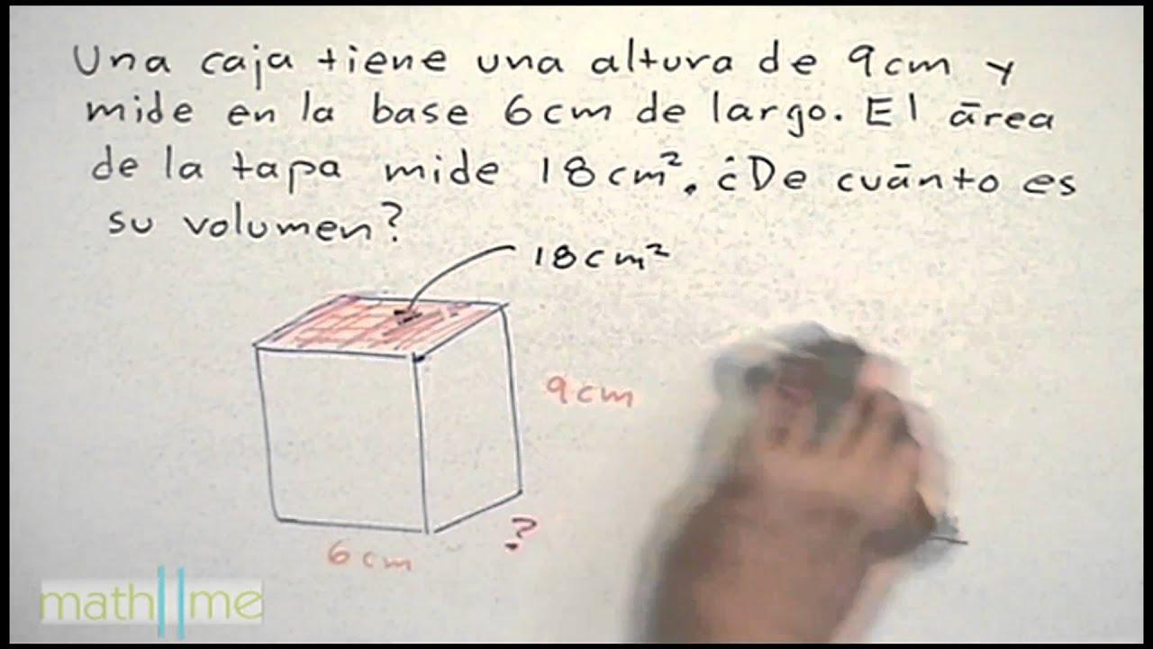 Volumen de figuras geometricas │ ejercicio 2 - YouTube