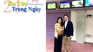 BTV Hoài Anh mặc áo dáng ngắn quần bà ba ở trường quay - Tin Tức Trong Ngày thumbnail
