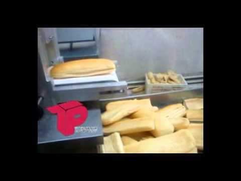 دستگاه برش نان باگت خط تولید ساندویچ سرد     - YouTubeدستگاه برش نان باگت خط تولید ساندویچ سرد
