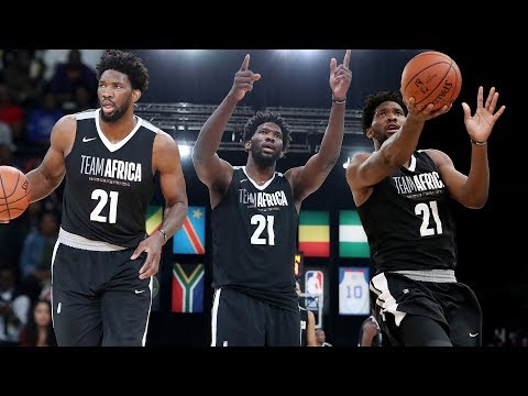Joel Embiid Game Highlights vs Team World In NBA Africa Game 2018