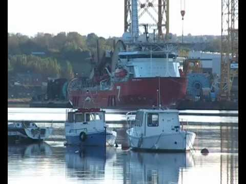 Pipe Laying Vessel Seven Navica on the River Tyne 15th October 2012