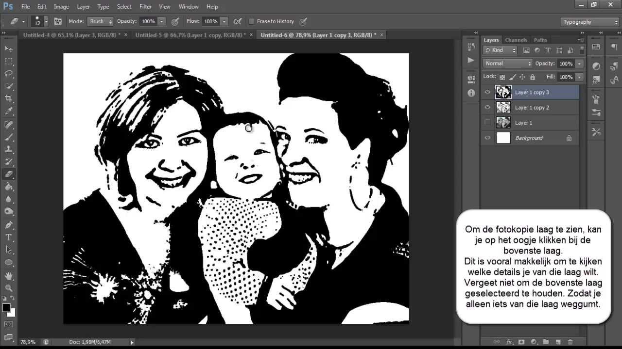 photoshop foto omzetten naar zwart wit afbeelding