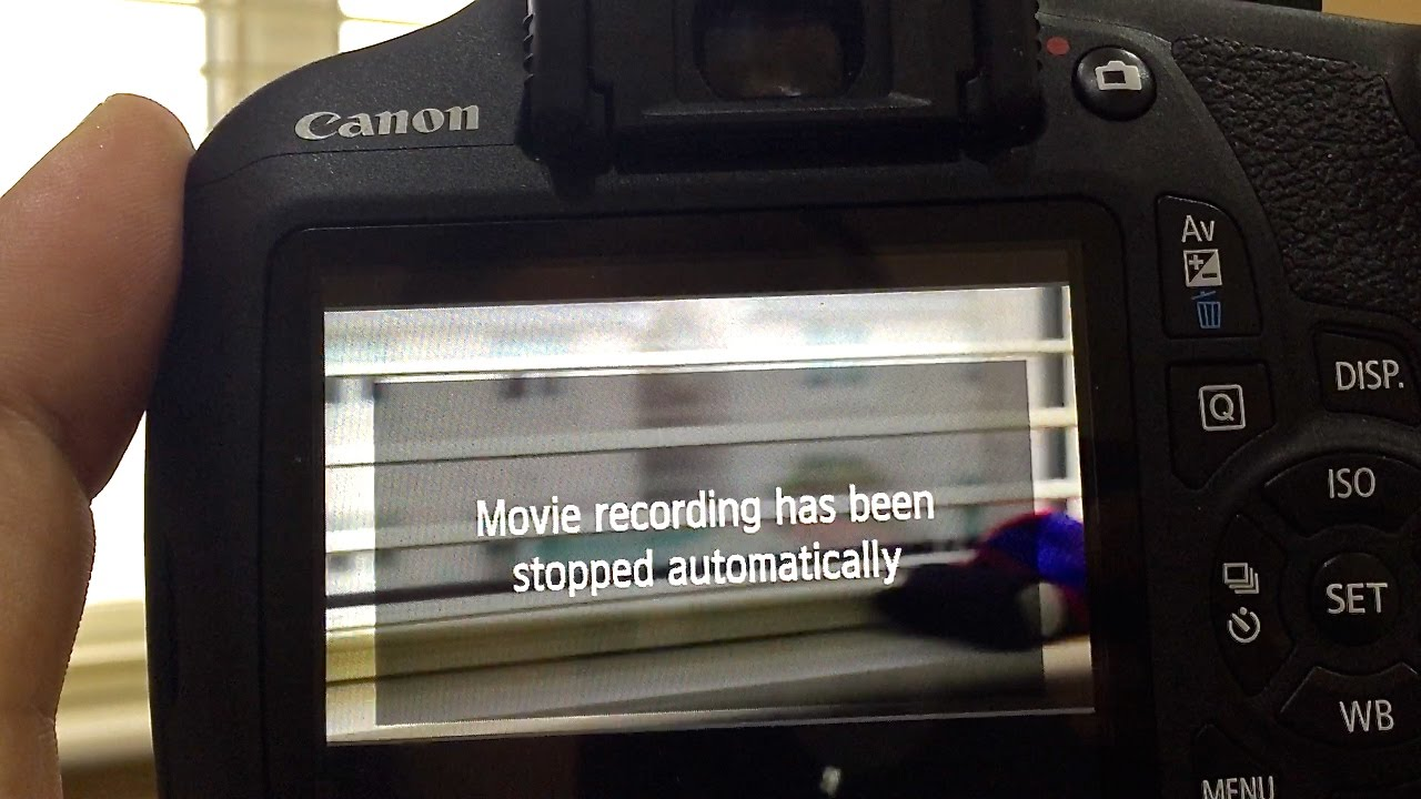 Fix - 1200d ( rebel t5 ) movie recording has been stopped automatically