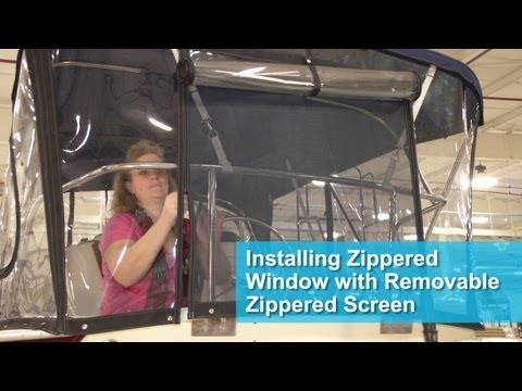 Installing Zippered Window with Removable Zippered Screen