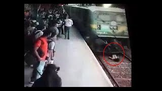 Mumbai: Miraculous escape of girl after train hits her on track