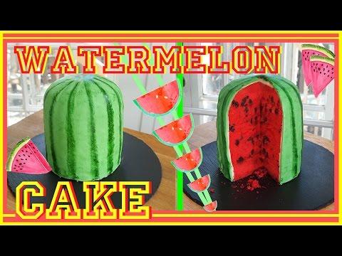 watermelon cake - gâteau pastèque - carl arsenault - youtube