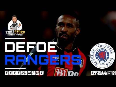 How will Jermain Defoe perform at Rangers according to Football Manager?