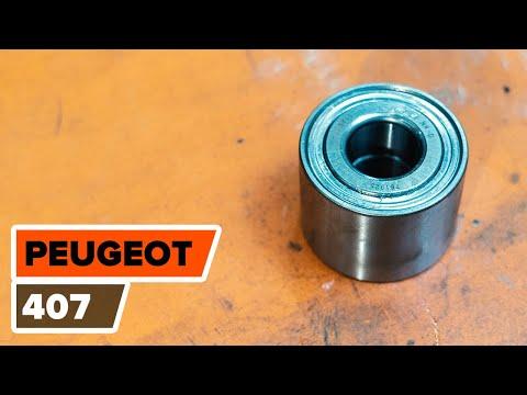 Så byter du hjullager, bak på PEUGEOT 407 [GUIDE]