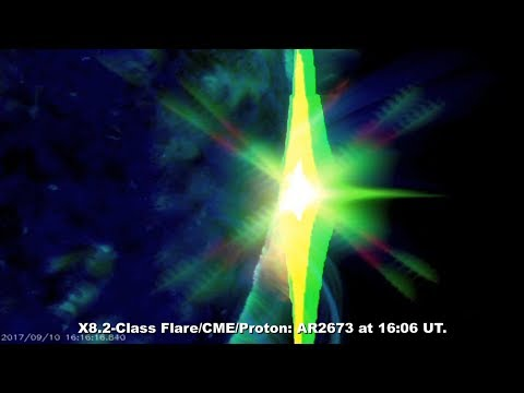 SOLAR ACTIVITY UPDATE: X8.2-Flare/CME/Proton: Sept. 10th, 2017.