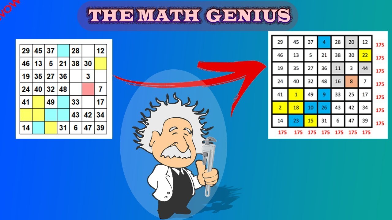 كن عبقريا في الرياضيات (إجعل أصدقائك منبهرين بذكائك في الرياضيات عن طريق المربع السحري)