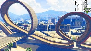 GTA 5 Mods 'ROLLER COASTER RAMP MOD' (GTA 5 Ramps And Jumps, GTA 5 Stunts And Fails, Funny Moments)