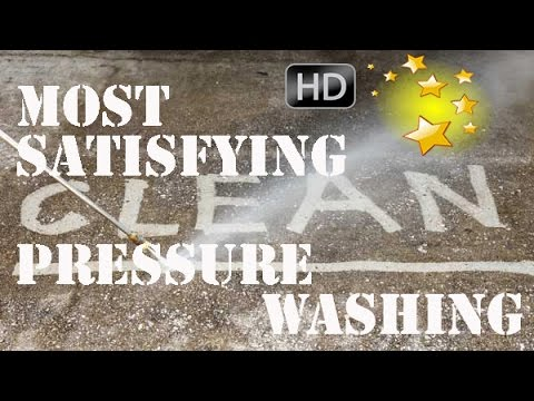 Most Satisfying Pressure Washing  Most Satisfying Power Wash Video