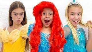 لبست ناستيا صديقاتها في فساتين الأميرة