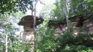 Wisconsin Dells Stand Rock With Jumping German Shepherd