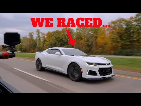 I RACED THE NEW 2019 CAMARO ZL1 VS MY 2018 MUSTANG GT