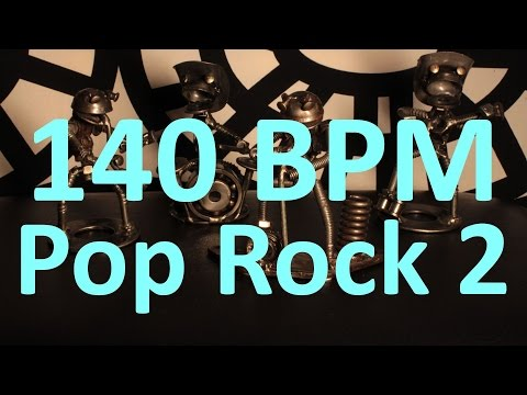 140 BPM - Pop Rock 2 - 4/4 Drum Track - Metronome - Drum Beat