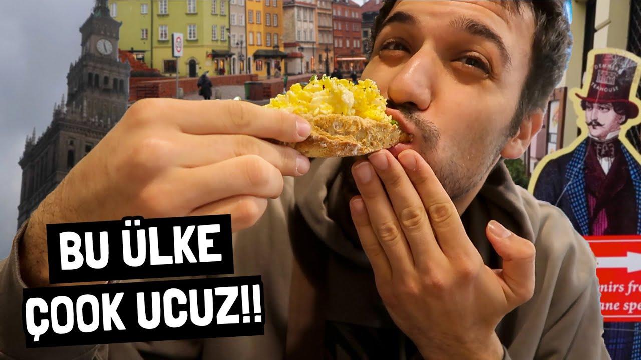 POLONYA'da İlk Günüm!! EFSANE Yemekler, Fiyatlar ve Yaşam (Varşova)