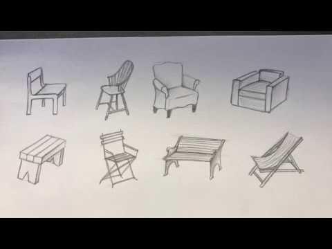 Cách Vẽ Ghế Đơn Giản, Cực Nhanh [1] | how to draw a simple chair