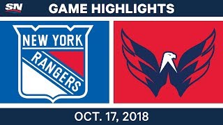 NHL Highlights | Rangers vs. Capitals - Oct. 17, 2018