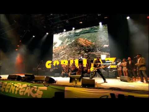 Gorillaz O Green World Live Glastonbury 2010 Youtube
