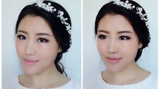 Easy Bridal Makeup Tutorial/Asian Bridal Makeup/Korean Bridal Makeup Tutorial