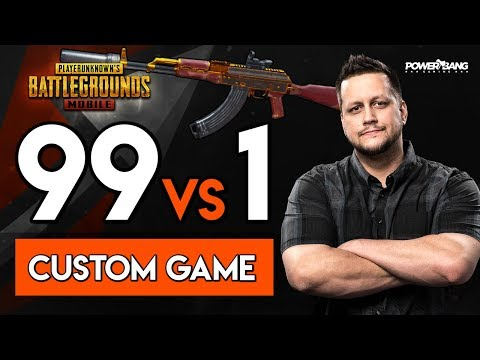 99 PLAYERS vs. Powerbang - CUSTOM GAME w/ SUBS! PUBG Mobile