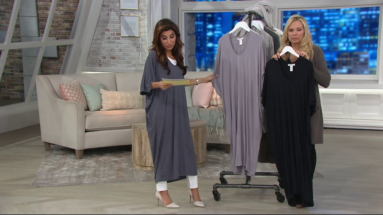 ab6f237f72 Barefoot Dreams Luxe Milk Jersey Caftan on QVC - YouTube