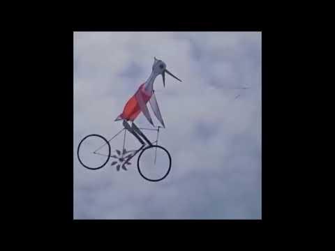Flying Kite Cycle Man