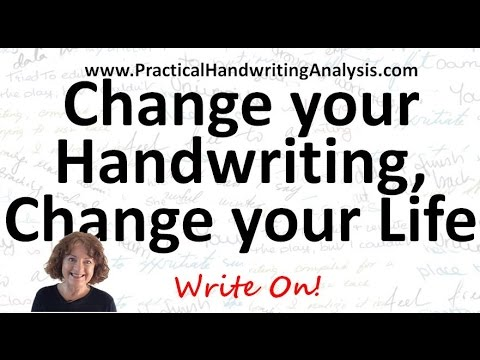 How to Change your Handwriting to Change your Life   Graphology Personality from Handwriting Signatu