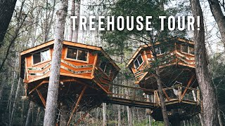 Tiny Home In The Trees! | Full Airbnb Treehouse Cabin Tour