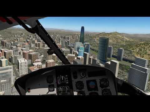 AS350B3+ (Dreamfoil) – Santiago, Chile (SCTB) Narrated Flight #2 + One Crash 🤩 – X-Plane 11.11