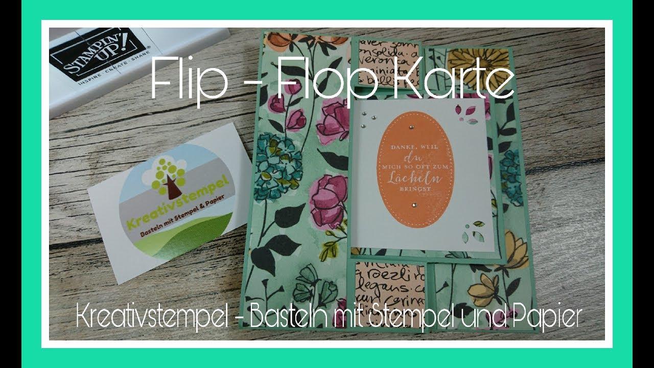 flops karte Flip Flop Karte basteln / Swing Card Bastelanleitung Tutorial