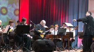 Balalaika duo: Andrey Gorbachev (Moscow) and Andrey Onishenko (Irkutsk) plays with orchestra