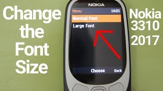 Nokia 3310 2017 2G Change the Font Size