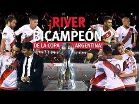 Todos Los Goles River Campeon De La Copa Argentina 2017 - HD